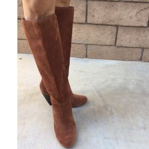 Jessica Simpson Virnica Brown suede leather boots